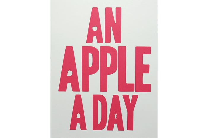 Apple A Day - Red