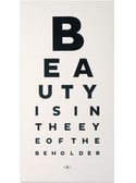 Beauty Eye Chart - LARGE!