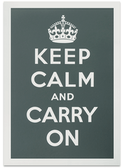 Keep Calm - Racing Green