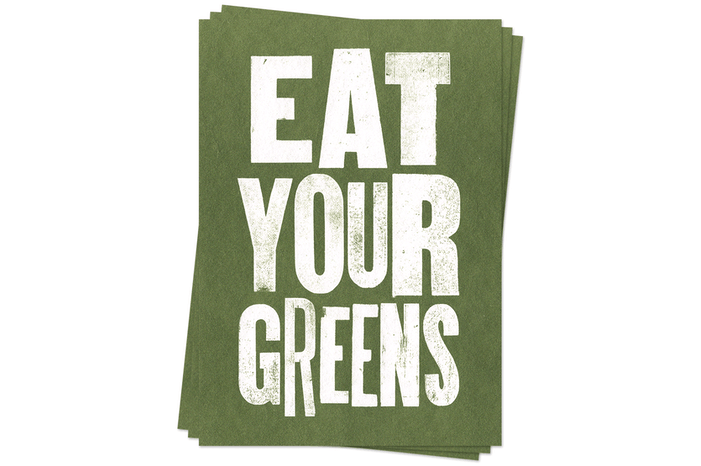 Eat Your Greens - Postcards