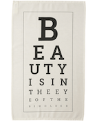 Beauty Eye Chart - Tea Towel