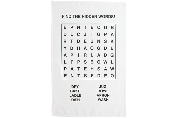 Kitchen wordsearch